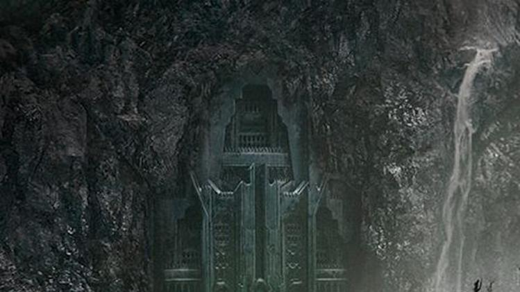 "In this image released by New Zealand movie director Peter Jackson, the poster for ""The Hobbit: The Desolation of Smaug,"" directed by Jackson, is shown. Hobbits, elves and dragons appear to be luring tourists to New Zealand as fans await their first glimpse of the second movie in ""The Hobbit"" trilogy. Warner Bros. announced Monday, June 10, 2013 it will release the first teaser-trailer of ""The Hobbit: The Desolation of Smaug"" at 1 p.m. EDT Tuesday. The second film will premiere Dec. 13 in Los Angeles. (AP Photo/Peter Jackson) MANDATORY CREDIT"