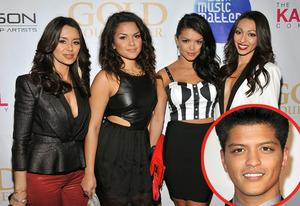 The Lylas ( Bruno Mars inset) | Photo Credits: Angela Weiss/Getty Images; Steve Granitz/WireImage.com(inset)
