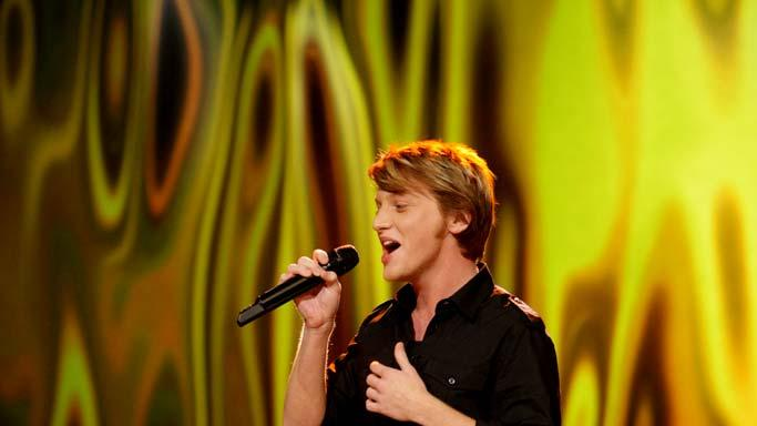 Colton Berry performs as one of the top 24 contestants on the 7th season of American Idol.
