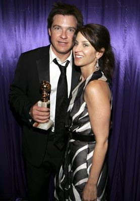Jason Bateman, Winner - Actor, Musical or Comedy, with wife Amanda Anka InStyle/Warner Bros. Golden Globes Party The Palm Court at the Beverly Hilton - Beverly Hills, CA - 1/16/05