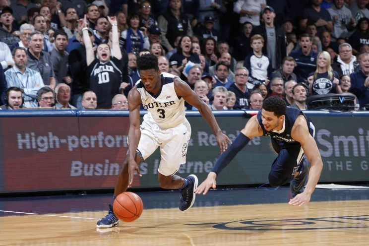 Butler's Kamar Baldwin came up with a crucial late steal to see Butler over the finish line. (Getty)