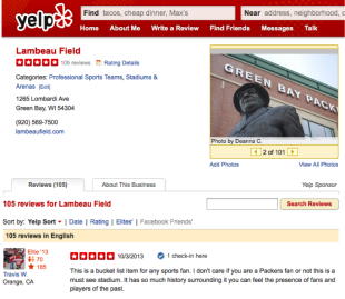 The Good, The Bad, and The Downright Ugly Truths About Online Reviews image lambeauyelp