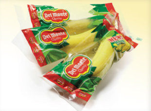 Del Monte's newest snack offering: Single bananas, warpped in plastic. (Photo/freshdelmonte.com)