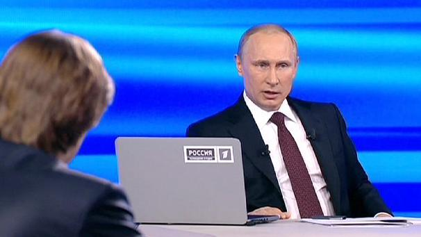 """Rubbish"": Putin slams claims that Russia is behind Ukraine revolt"