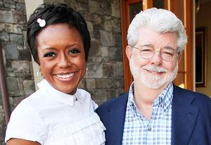 Mellody Hobson and George Lucas | Photo Credits: Johnny Nunez/WireImage