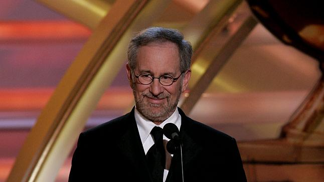 Steven Spielberg at the 64th annual Golden Globe Awards.