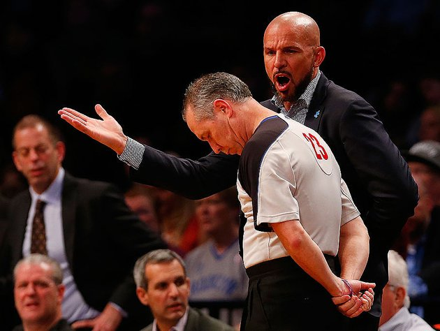 Jason Kidd lets loose on the blue. (Getty Images)