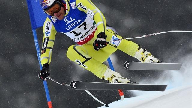 World Championships - Svindal joins ski greats with second downhill win