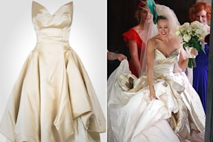 For its wedding scene, the actress wore a now-discontinued Vivienne Westwood.