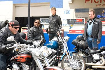 John Travolta , Martin Lawrence , William H. Macy and Tim Allen in Touchstone Pictures' Wild Hogs