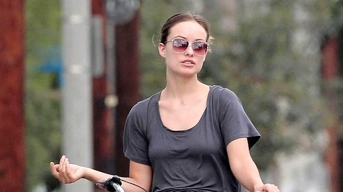 Olivia Wilde Bike Riding