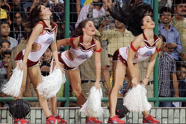 Cheerleaders and Celebrities at IPL-5