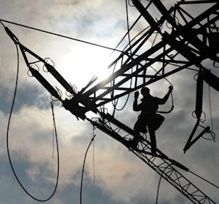 A naked woman had to be rescued after she got electrocuted on an electricity tower in China. (AFP File photo)