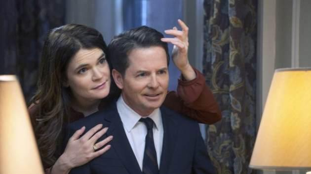 Betsy Brandt as Annie and Michael J. Fox as Mike in NBC's 'The Michael J. Fox Show' -- NBC
