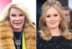 Joan Rivers, Adele   Photo Credits: Daniel Zuchnik/FilmMagic; Jason Merritt/Getty Images