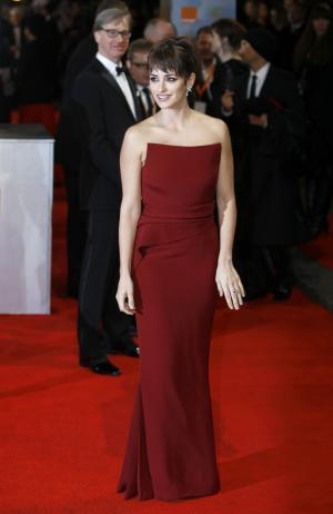 Actress Penelope Cruz arrives for the BAFTA Film Awards 2012, at The Royal Opera House in London, Sunday, Feb. 12, 2012. (AP Photo/Alastair Grant)
