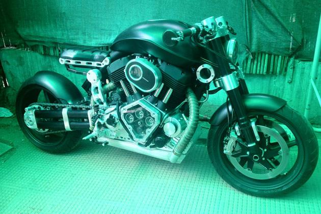 MS Dhoni's 'unusual bike'
