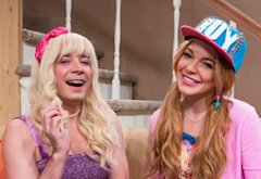 Jimmy Fallon, Lindsey Lohan | Photo Credits: Lloyd Bishop/NBC