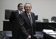 Former Guatemalan leader Jose Efrain Rios Montt, is seen during a court hearing in Guatemala City on January 23, 2013. A judge ordered he be tried for genocide of the country's indigenous populations during his 1982-83 regime.