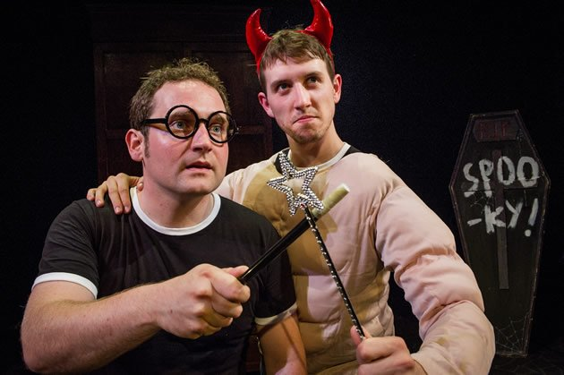 The British duo, Gary Trainor and Jesse Briton, condenses all seven Harry Potter books into mere 70-minutes of performance. (Photo from Fulford PR)