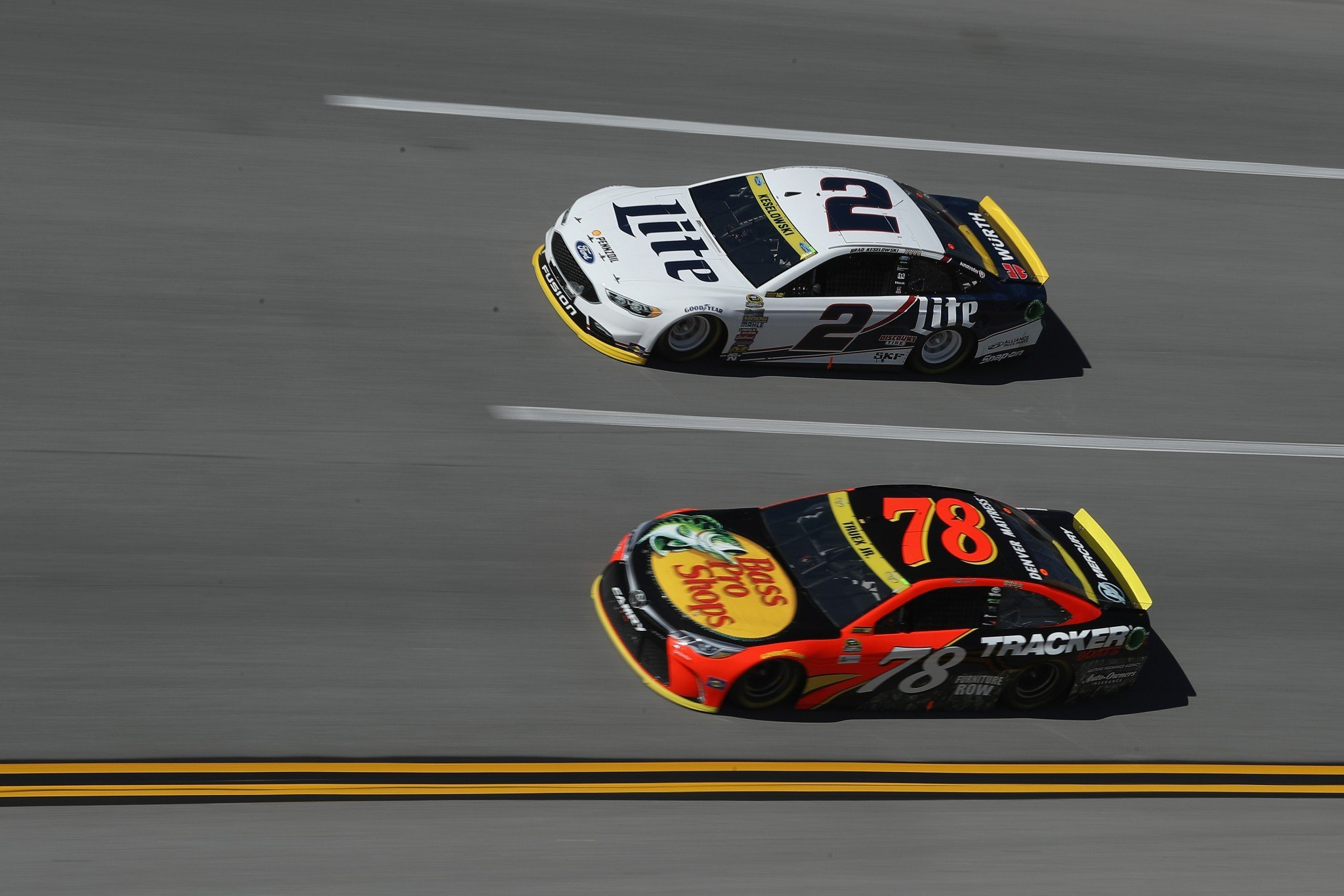 Both Brad Keselowski and Martin Truex Jr. got eliminated on Sunday. (Getty)