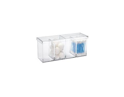 Container Store Acrylic 4-Section Box, $9.99, containerstore.com