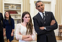 McKayla Maroney, Barack Obama | Photo Credits: Pete Souza/Getty Images