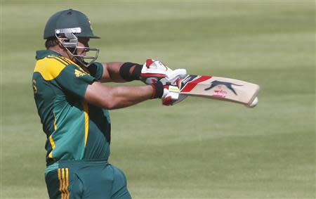 South Africa's Jacques Kallis plays a shot during the first One Day International cricket match against Pakistan