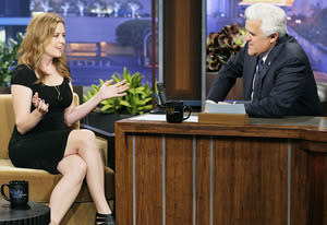 Jenna Fischer and Jay Leno | Photo Credits: Paul Drinkwater/NBC