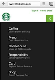 Not All Responsive Web Design is Created Equal image starbucks icon after