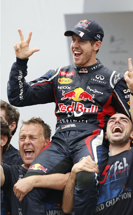 Sebastian Vettel won the Formula One title