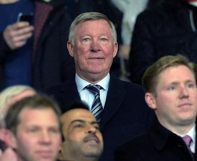 Former Manchester United manager Alex Ferguson in Manchester on March 18, 2014