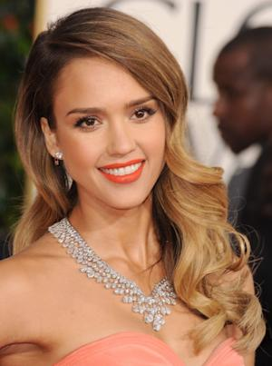 Jessica Alba arrives at the 70th Annual Golden Globe Awards at The Beverly Hilton Hotel on January 13, 2013 -- Getty Images
