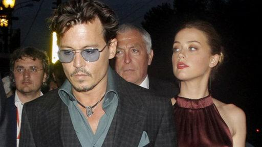 Johnny Depp Holds Hands With Amber Heard