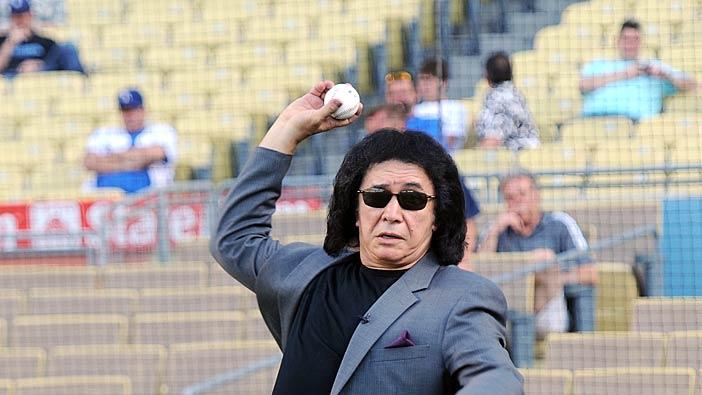 Gene Simmons Dodgers Game