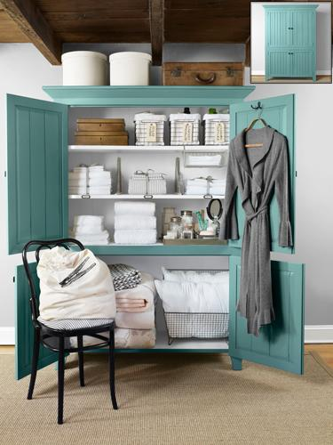 1. Try a freestanding wardrobe