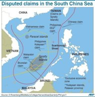 "Graphic on disputed boundaries in the South China Sea. China has summoned a top Philippine diplomat and expressed concern over the ""harassment"" of Chinese fishing boats in disputed waters in the South China Sea, as a maritime stand-off rumbled on"