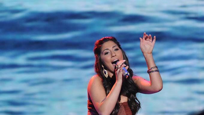 "Brielle Von Hugel performs ""(Sittin' On) The Dock of the Bay"" by Otis Redding on ""American Idol."""