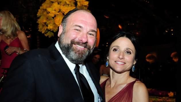 James Gandolfini and Julia Louis-Dreyfus attend HBO's Official Emmy After Party at The Plaza at the Pacific Design Center on September 23, 2012 in Los Angeles, -- Getty Premium
