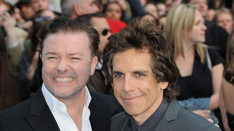 Night at the Museum 2 UK premiere 2009 Ricky Gervais Ben Stiller