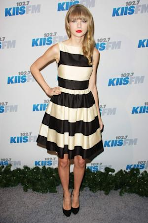 Taylor Swift dons kate spade at KIIS FM's Jingle Ball 2012 in LA on December 1, 2012 -- WireImage
