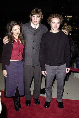 Premiere: Mila Kunis, Ashton Kutcher and Danny Masterson at the Beverly Hills premiere of USA Films' Traffic - 12/14/2000