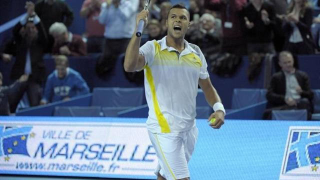 Tennis - Tsonga saves five match points, Simon upsets Del Potro