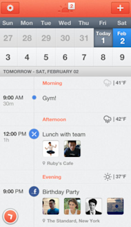 Gear Up With 5 iPhone Productivity Apps To Trendify 2013 image Sunrise Calendar
