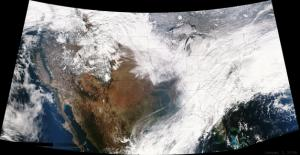Major Blizzard Visible from Space