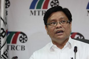Movie and Television Review and Classification Board Chairman Toto Villareal (Mike Alquinto/NPPA Images)