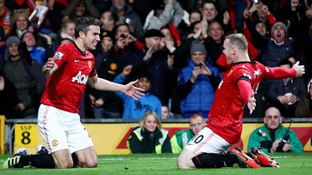 Manchester United's Robin van Persie and Wayne Rooney (Reuters)