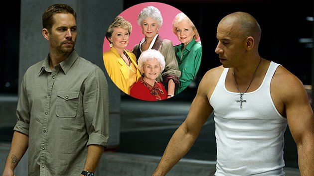 Paul Walker, Vin Diesel, and 'The Golden Girls'