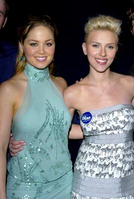 Erika Christensen and Scarlett Johansson at the LA premiere of The Perfect Score