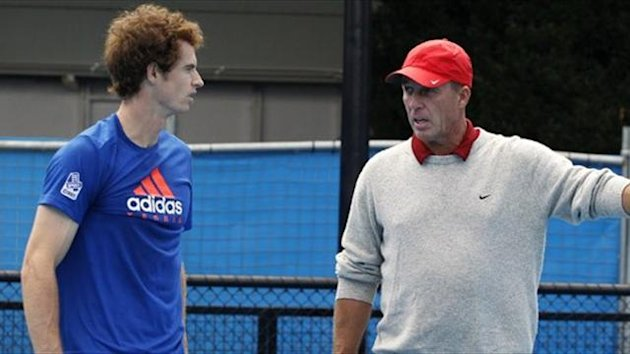 Andy Murray of Britain (L) is directed by his new coach Ivan Lendl (Reuters)